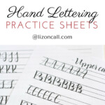 Free Printable Hand Lettering Practice Sheets Liz On
