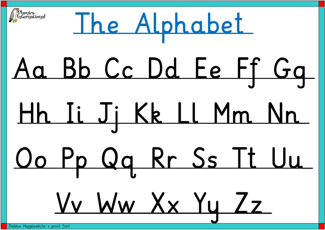 Free Printable Individual Alphabet Letters Upper And