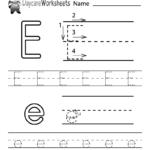 Free Printable Letter E Alphabet Learning Worksheet For