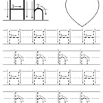 FREE Printable Letter H Tracing Worksheet With Number And
