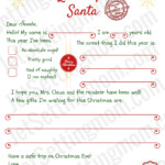 Free Printable Letter To Santa Template Writing To Santa