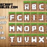 Free Printable Minecraft Birthday Party Banner Alphabet