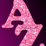 Free Printable Pink Glitter Letters To Download Make
