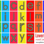 FREE Printable Road Letters Learning Letters Lettering