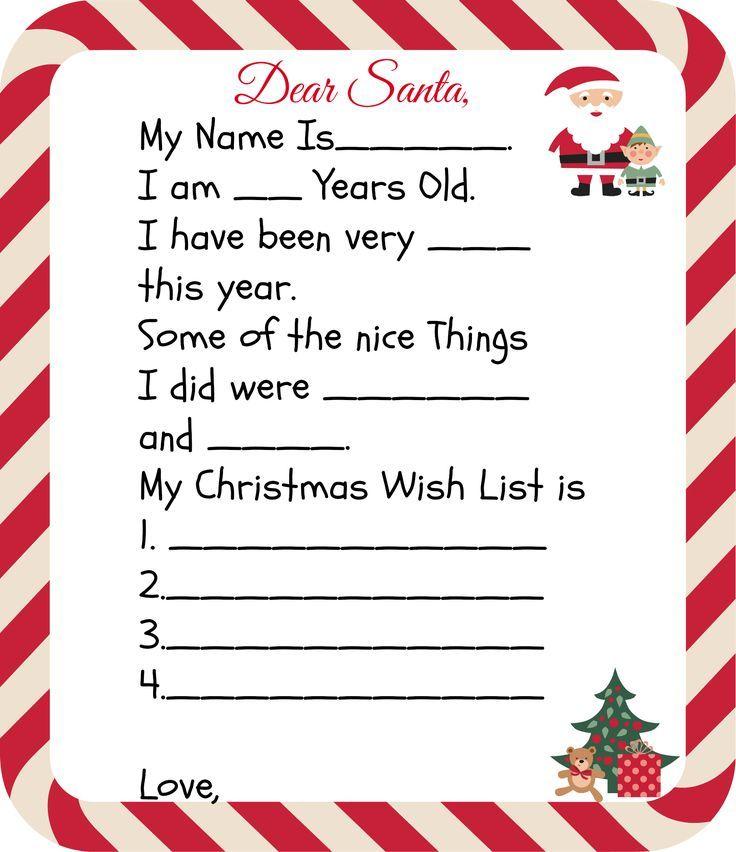 Free Printable Santa Letters For Kids Christmas Letter