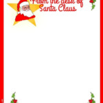 Free Printable Santa Stationery Holidays Christmas