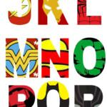 Free Printable Superhero Alphabet Letters Avengers