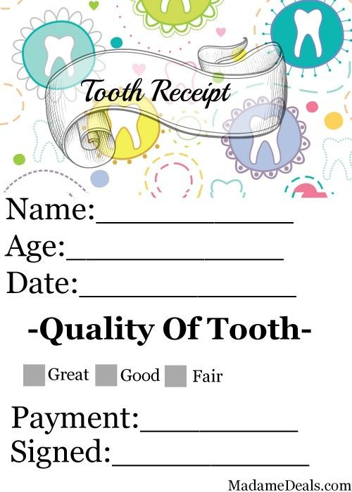 Free Printable Tooth Fairy Letters Madame Deals Inc
