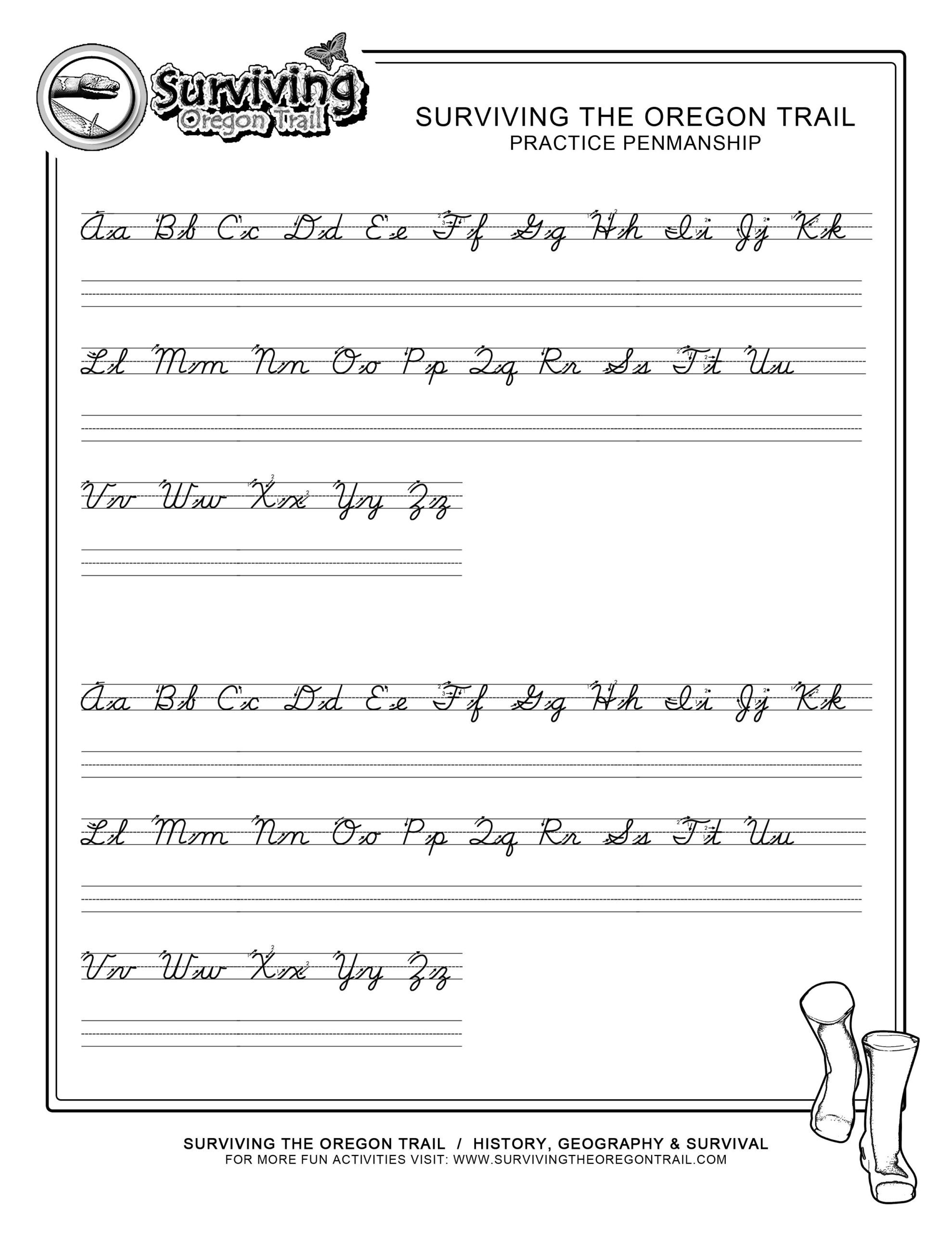 Free Printable Tracing Cursive Worksheets A z Name