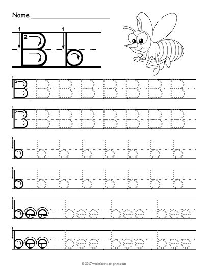 Free Printable Tracing Letter B Worksheet Letter Tracing