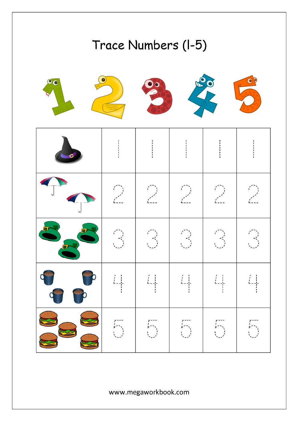 Free Printable Worksheets Numbers 1 10 NumbersWorksheet