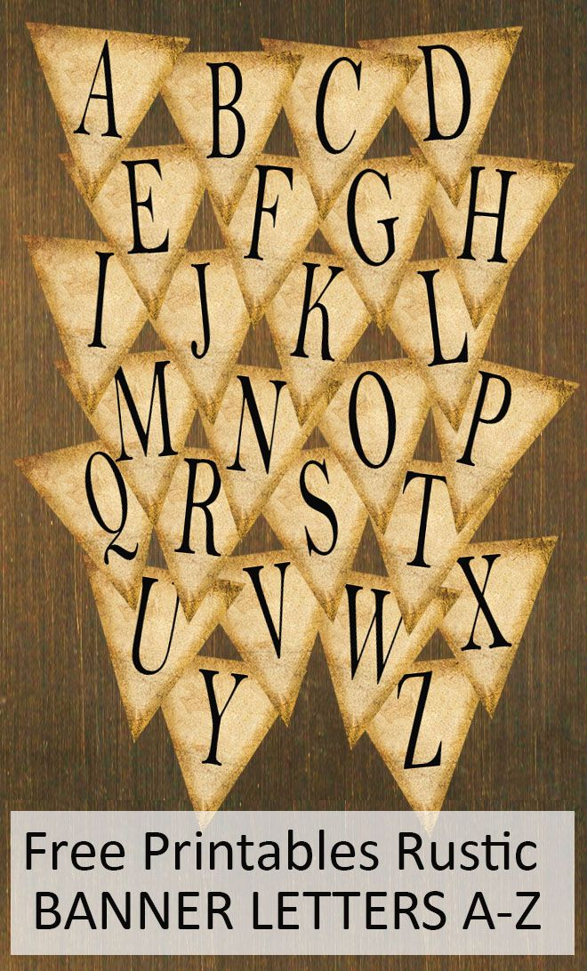 Free Printables Rustic Banner Letters A Z Free Printable