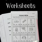 Free Short E Worksheets The Measured Mom