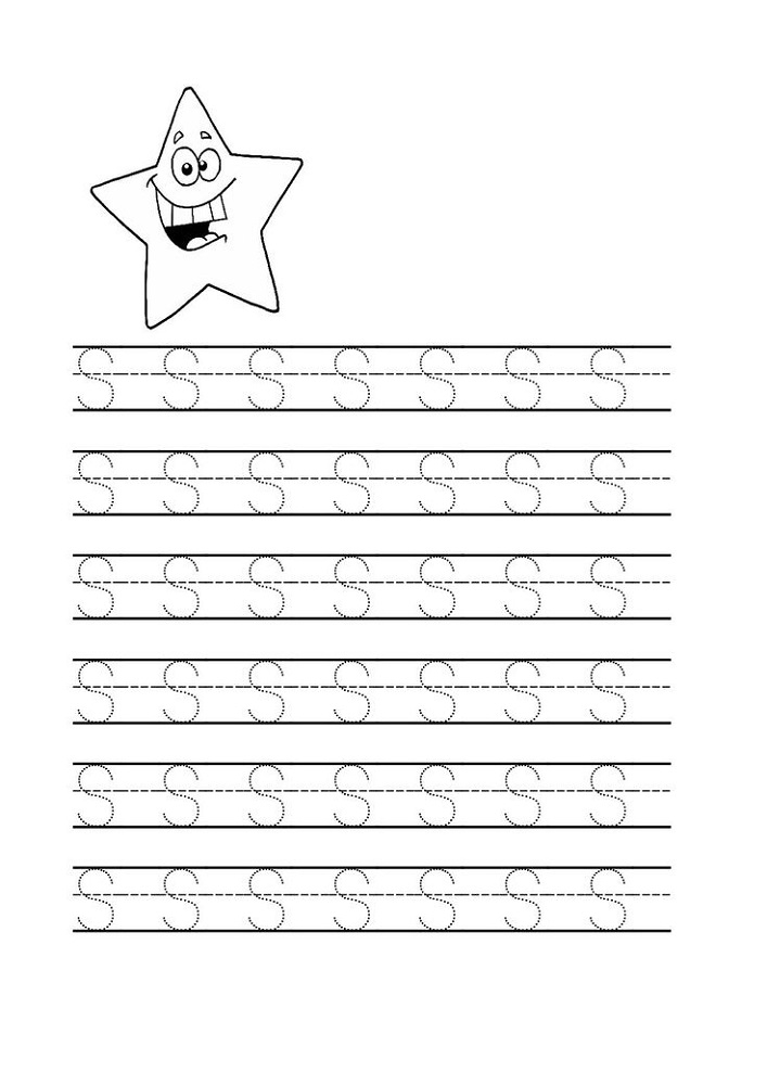 Free Trace Letter S Worksheets Activity Shelter