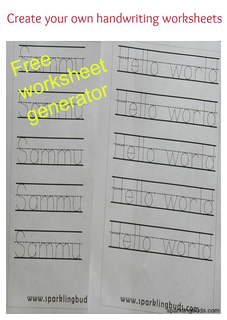 Free Worksheet Generator