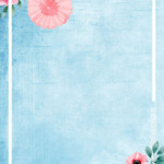 Fresh Hand Painted Wedding Invitation Poster Background