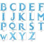 Frozen Alphabet Frozen Clipart Frozen Font Disney Frozen