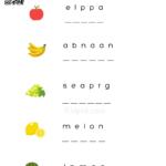 Fruit Name Printable Worksheet For Kindergarten Kidpid