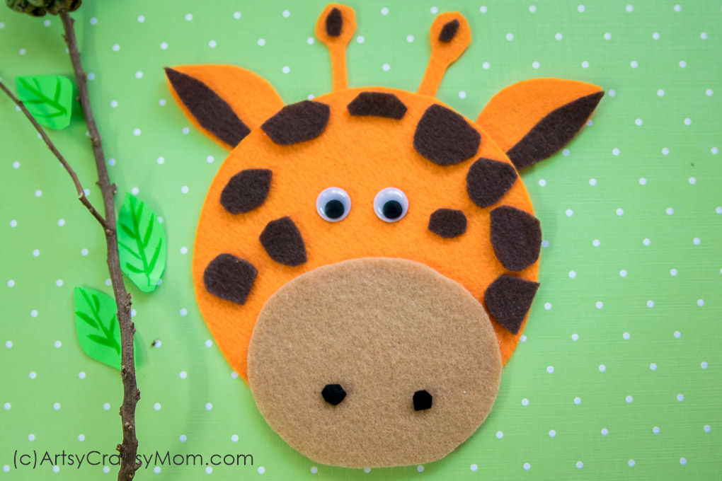 G For Giraffe Craft With Printable Template Artsy