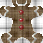 Gingerbread Man Cross Stitch Pattern Quaternion Creations