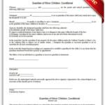Guardian Of Minor Children Conditional Guardianship