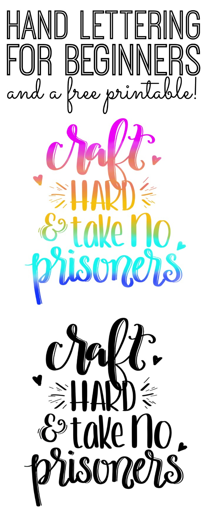 Hand Lettering For Beginners and A Free Printable For You