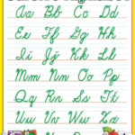 Handwriting Chart Cursive Cursive Alphabet Chart