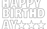 Happy Birthday Banner In Printable Letters Happy