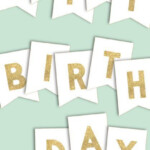Happy Birthday Banner Printable Template Paper Trail