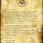 Harry Potter Acceptance Letter Template Free Download