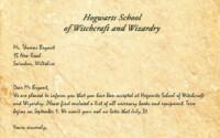 Hogwarts Acceptance Letter Harry Potter Letter Harry
