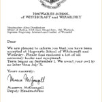 Hogwarts Acceptance Letter Template Free Printable Free