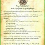 Hogwarts Brief Vorlage Kostenlose Vorlagen Zum Download