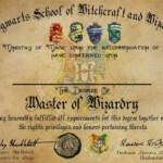 Hogwarts Graduation Diploma Template Harry Potter