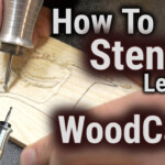 How To Wood Carve Power Carve Stencil Letters YouTube
