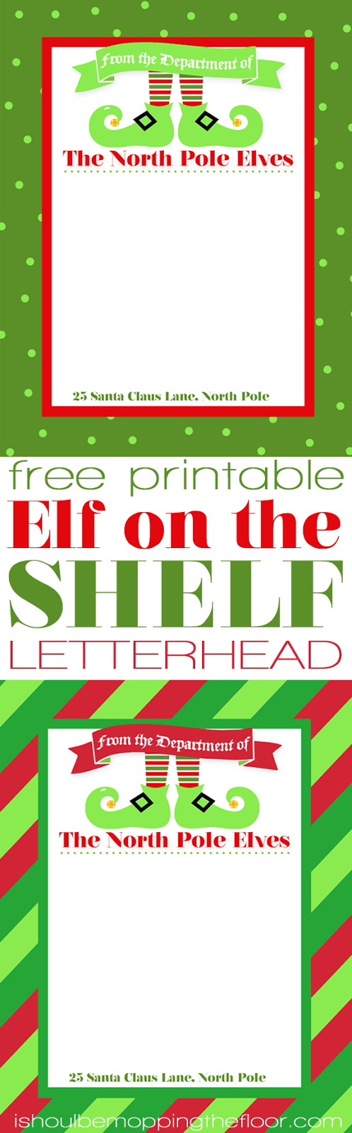 I Should Be Mopping The Floor Free Printable Elf On The