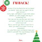 Im back elf on the shelf arrival letter free printable