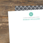 Items Similar To Letterhead Quatrefoil Monogram Pretty