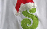 Items Similar To Santa Hat Letter Christmas Applique Tee T