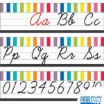 Just Teach Cursive Alphabet Line Printable Bulletin Board
