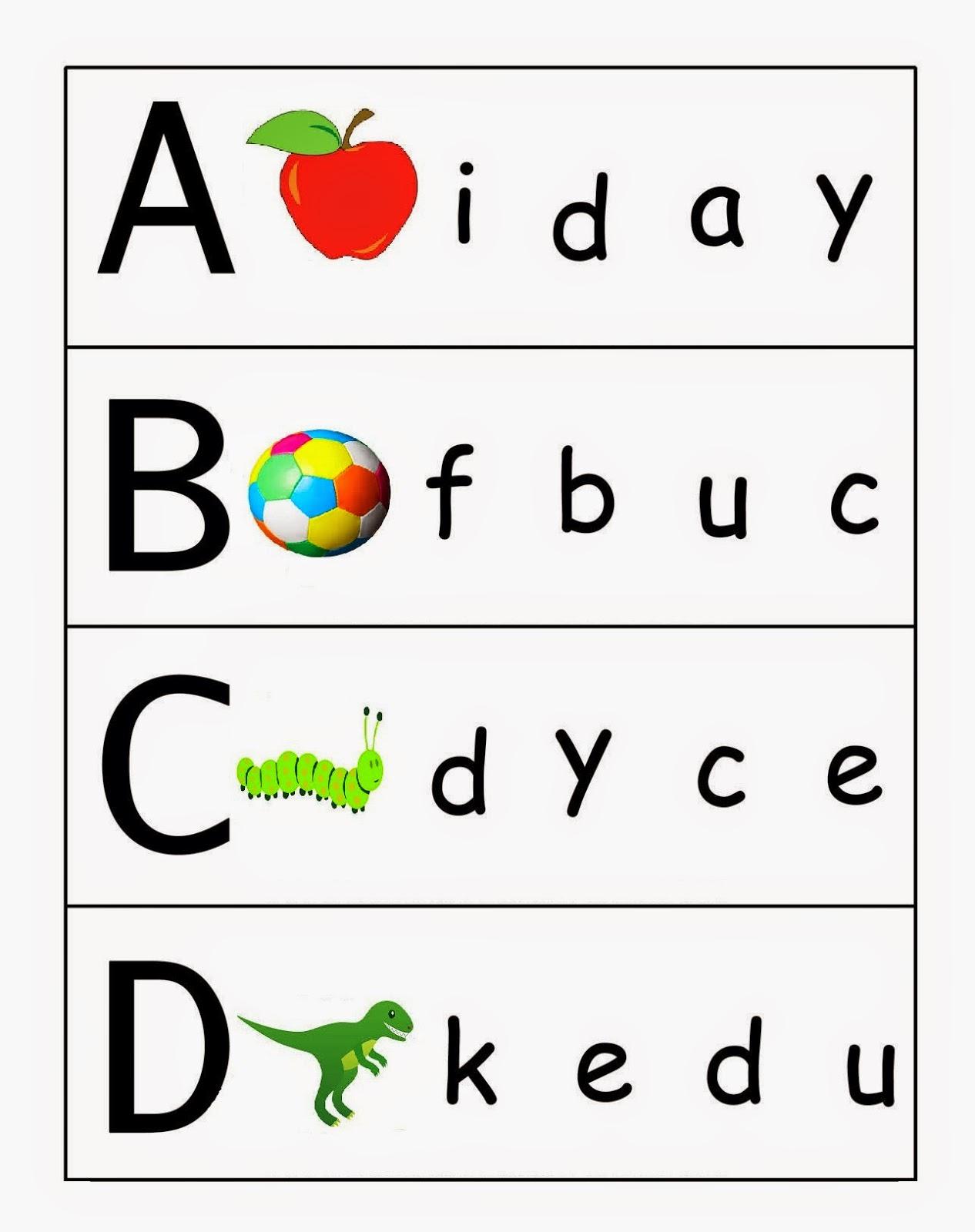 Kindergarten Worksheets Match Upper Case And Lower Case