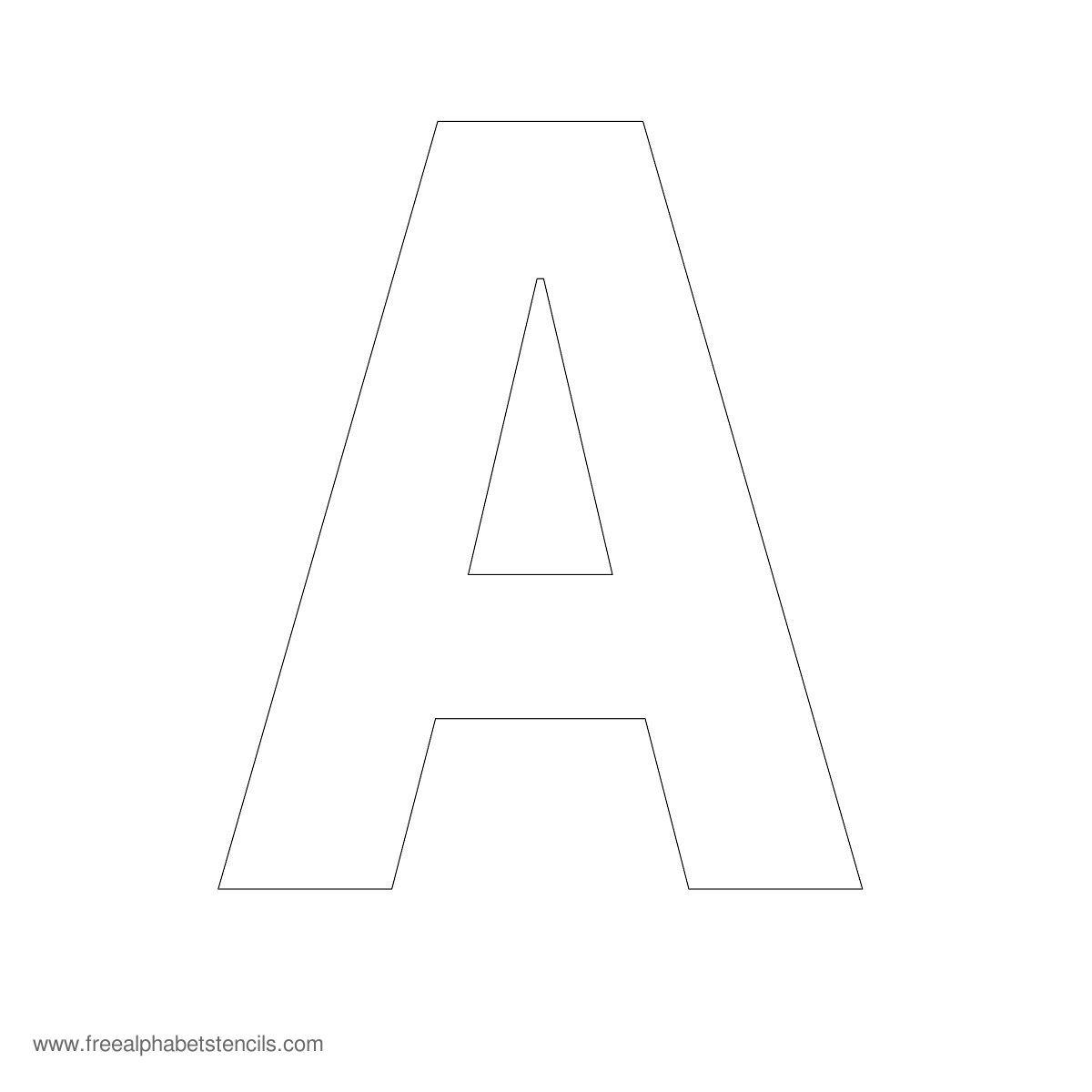 Large Alphabet Stencils FreeAlphabetStencils