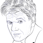Learn How To Draw Gordon Ramsay Famous People Step By