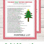 Left Right Christmas Game FREE PRINTABLE Lil Luna
