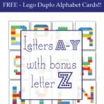 Lego Duplo Alphabet Cards Freebie One Beautiful Home