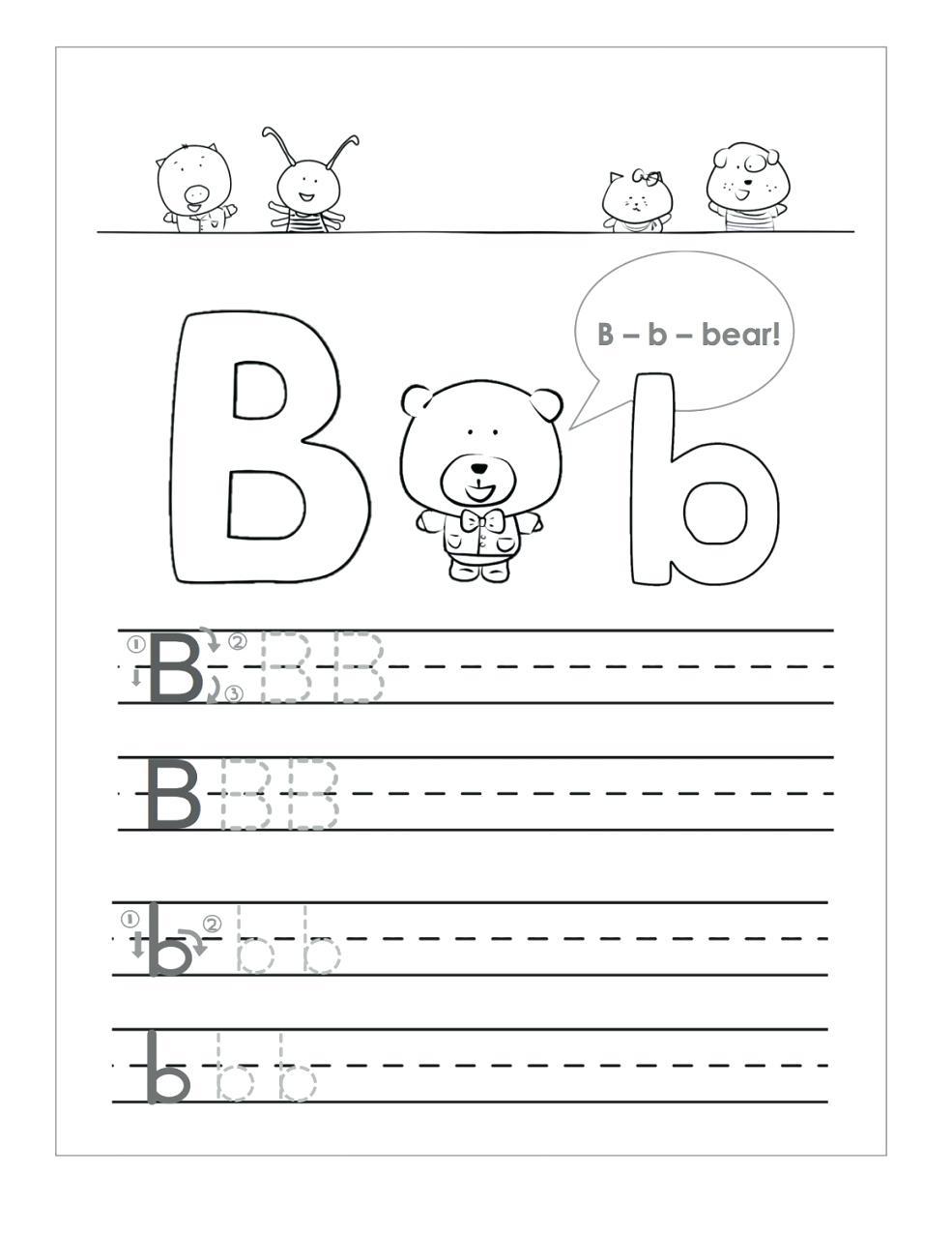 Letter B Worksheets To Learning Letter B Worksheets