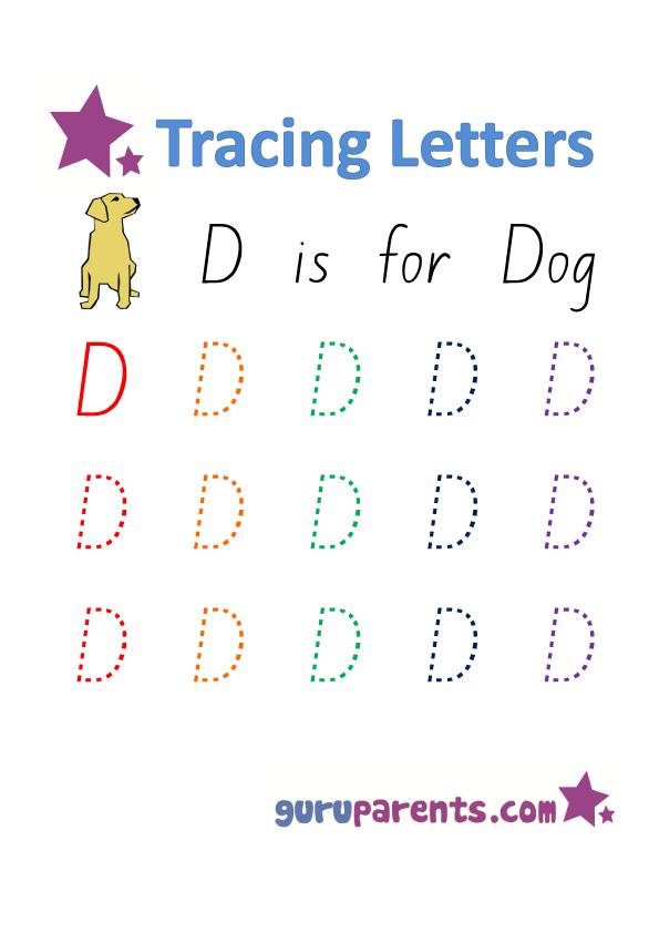 Letter D Worksheets Guruparents