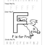 Letter F Worksheets For Kids 001 Coloring Sheets