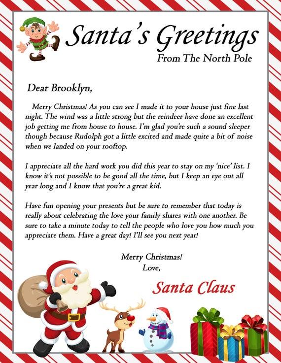 Letter From Santa On Christmas Morning