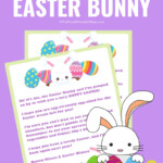 Letter From The Easter Bunny Free Printable The Purple